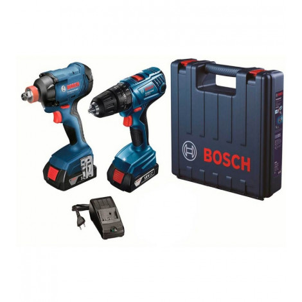 Kit Bosch Talad.perc.gsb 18+llave De Imp.gdx 180 + Maletin 06019g52e2