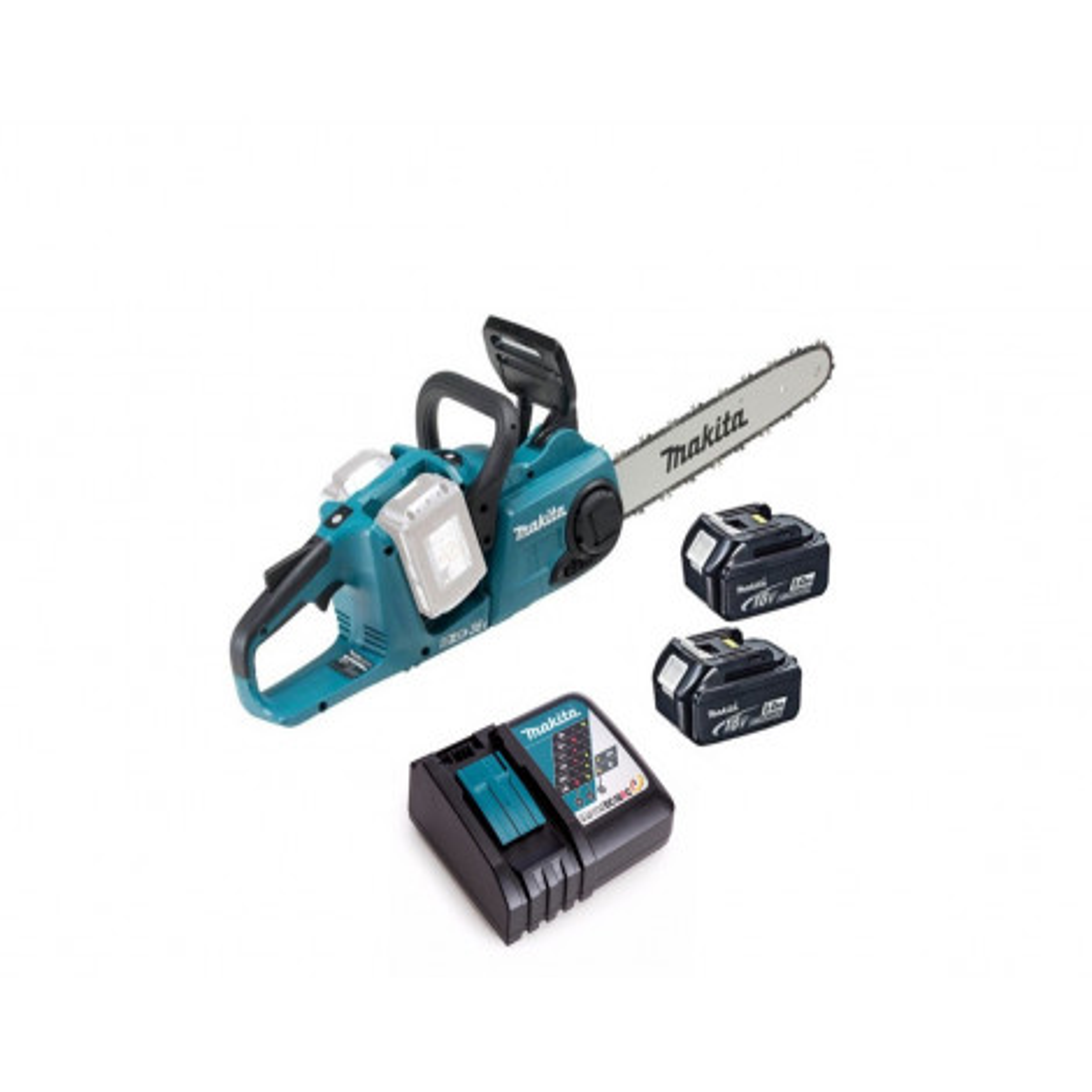 "Motosierra Makita Duc353z1 36v 14"" 2 Baterias 18v 5ah + Cargador Rapido Simple Dc18rc  (electrosierra)"