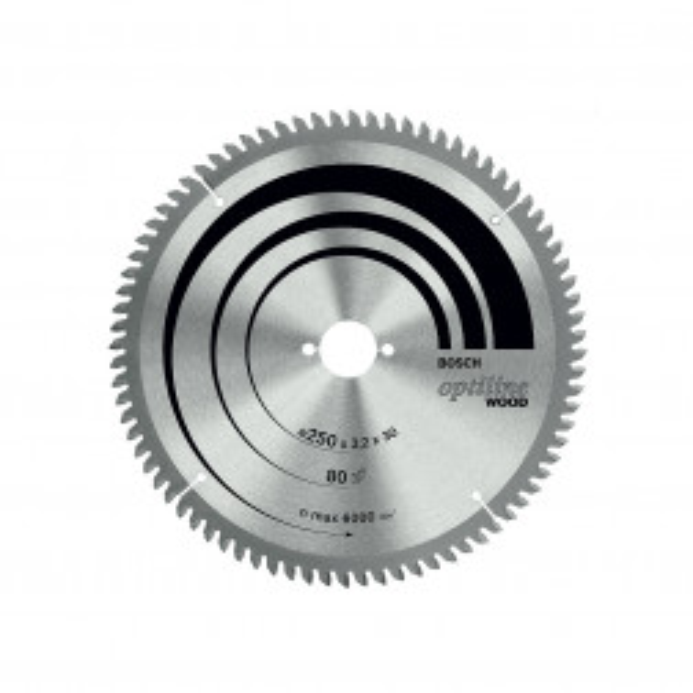 Disco Sierra 10'' X 60 Dientes Bosch Ingleteadora