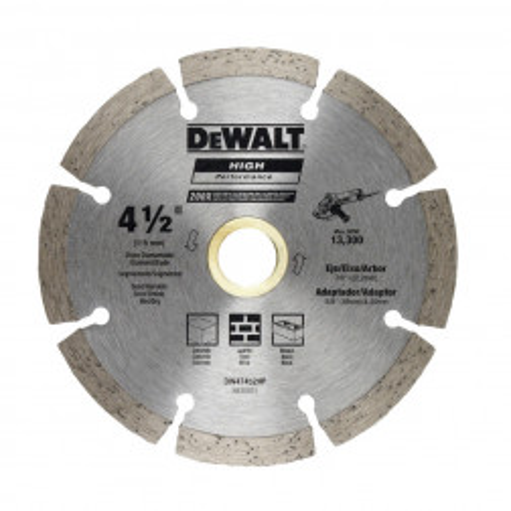 "DISCO DIAMANTADO SEG.4 1/2"" DEWALT DW47452HP"