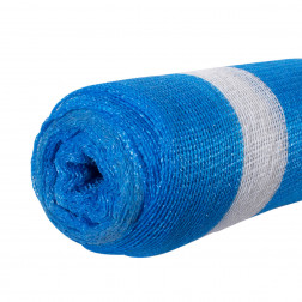 Malla Raschel Azul Blanco 80% X 2.10 Rollo 5 Metros