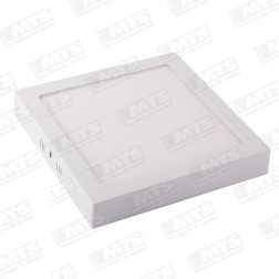 PANEL LED CUADRADO SOBREPUESTO 18W D 225mm LUZ BLANCA