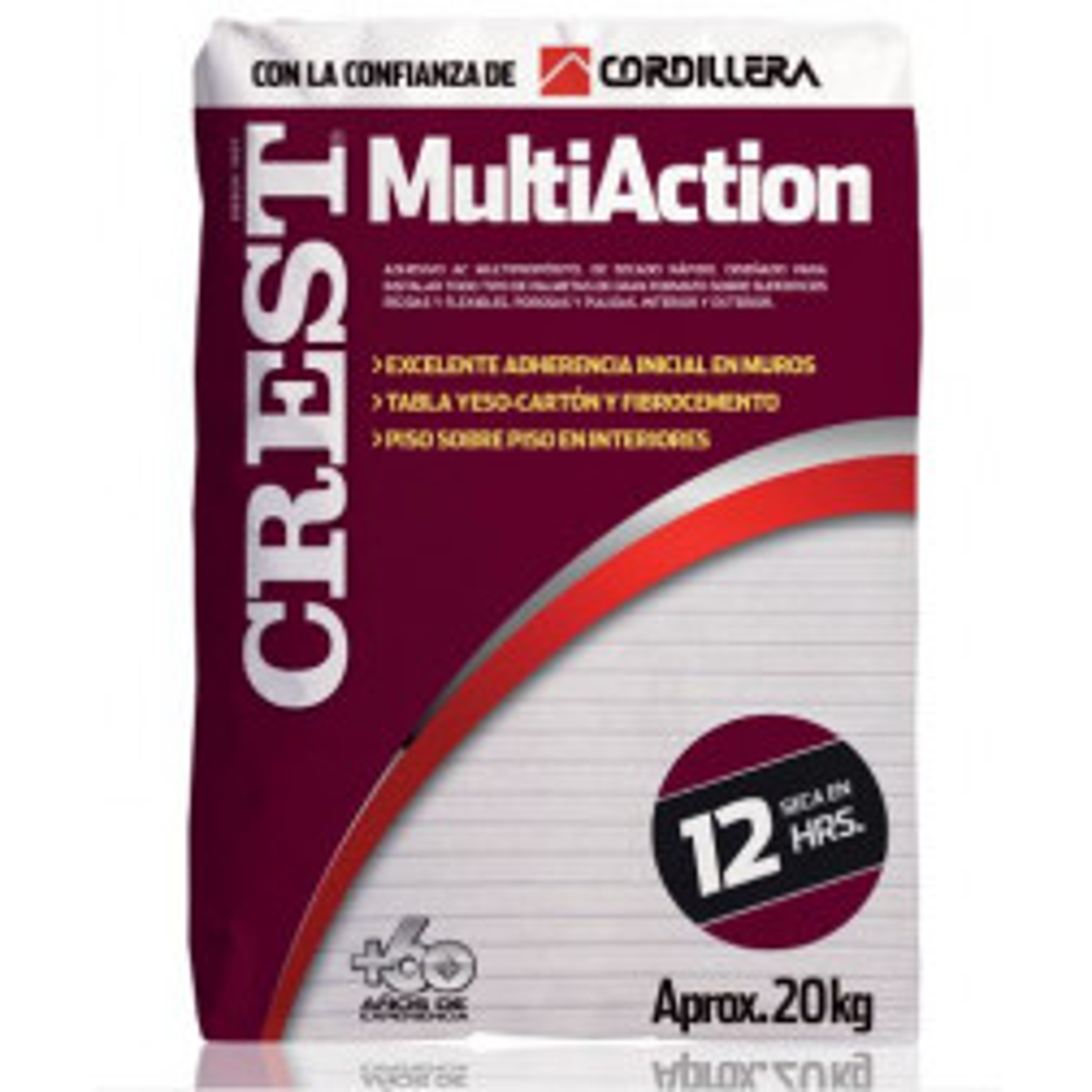 Adhesivo Crest Multiaction Polvo 20kg (ac)