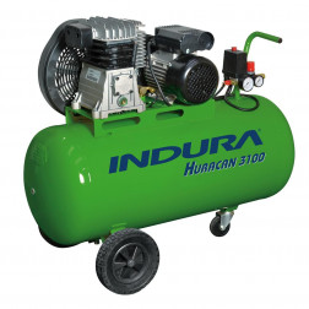 Compresor Indura 100 Litros 3hp Huracan 3100