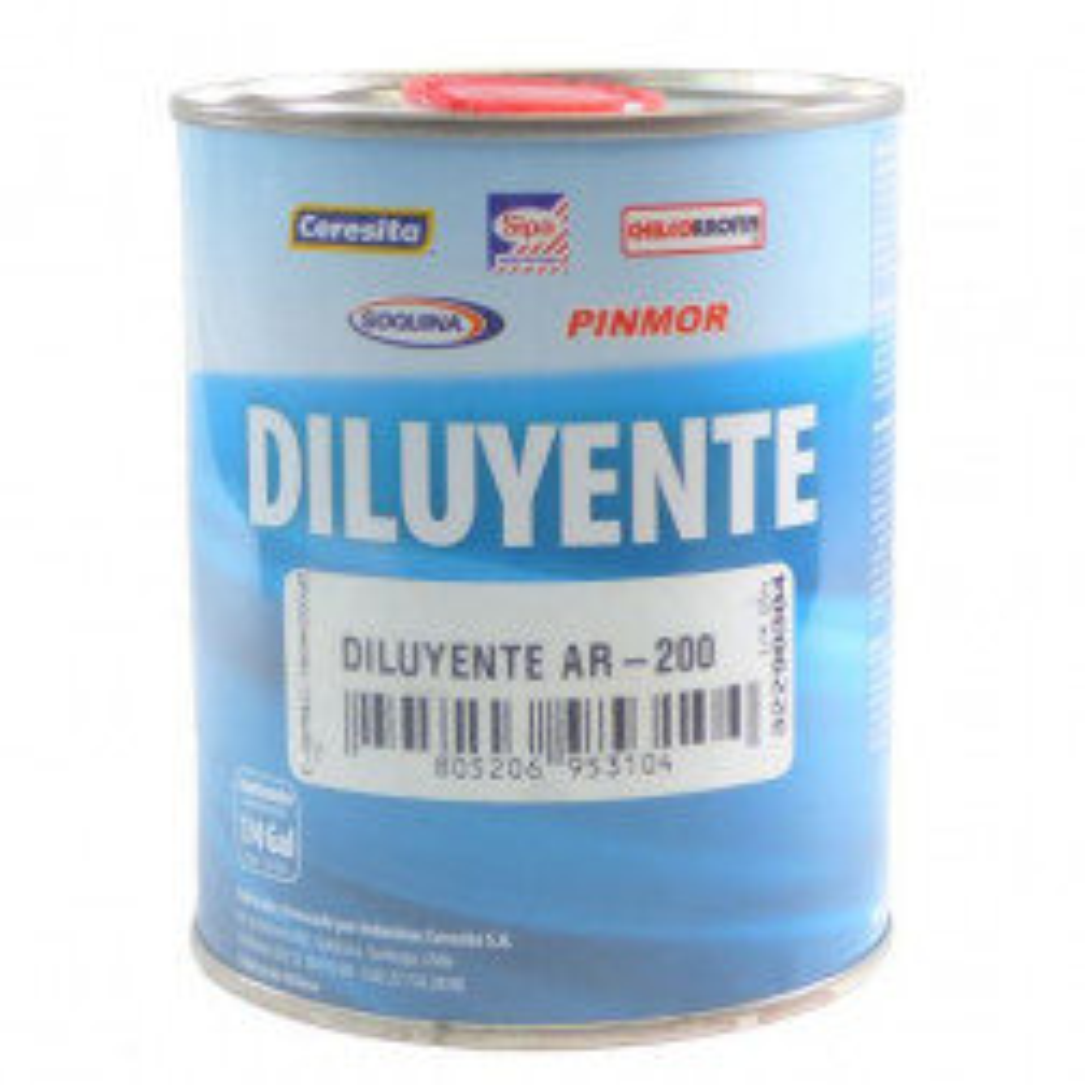 Diluyente Ar200 (ex K45) Para Pintura Trafico Y Piscina 1/4 Gl