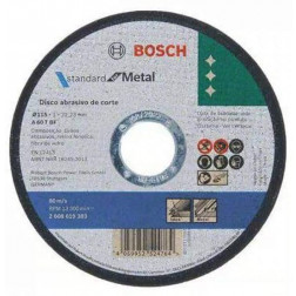 Disco Corte Inox Fino Standard 4.1/2 Bosch (9383)