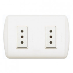 ENCHUFE DOBLE 10 AMP BLANCO 1208BN BTICINO