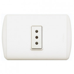 ENCHUFE SIMPLE 10 AMP. BLANCO 1105BN BTICINO