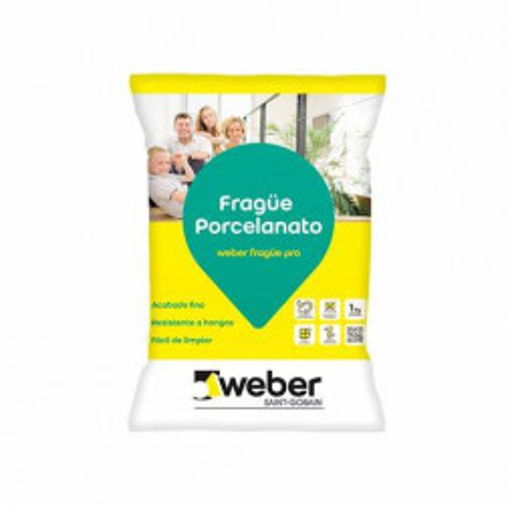 Frague Porcelanato Weber Negro 1 Kg