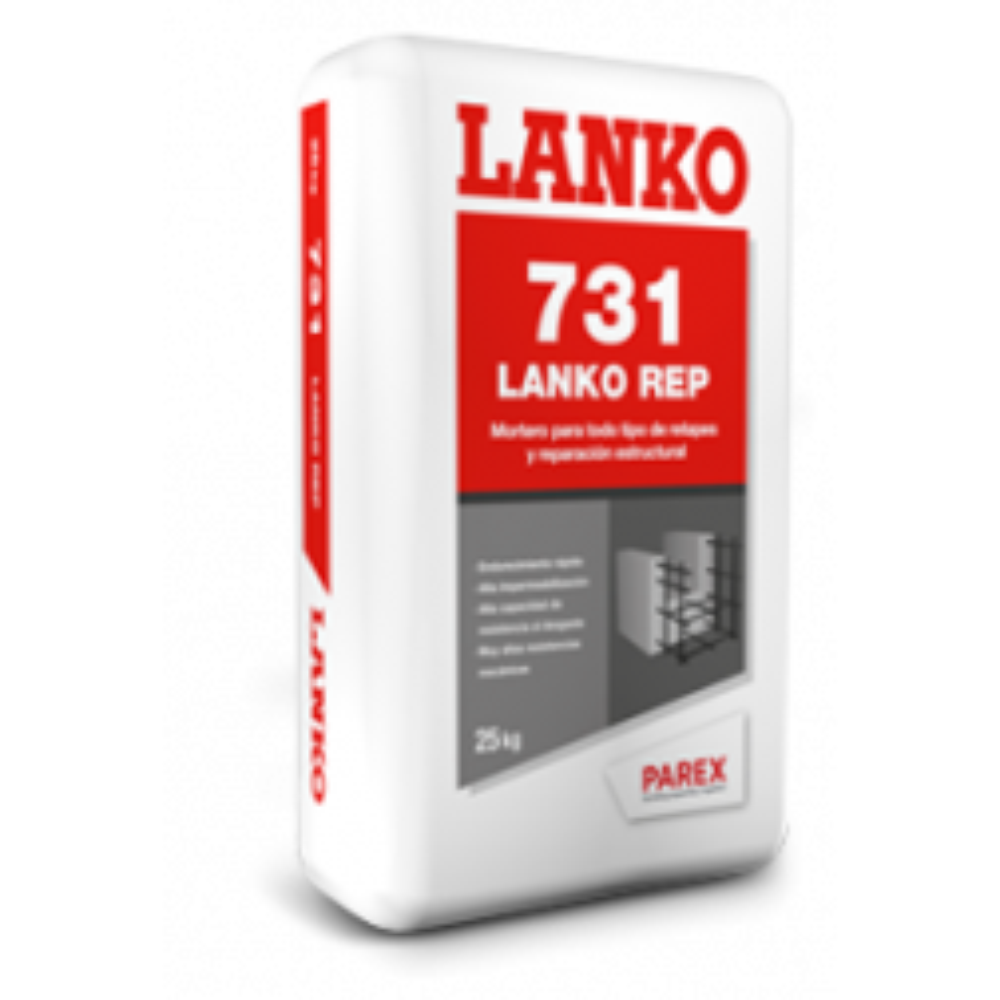 Lankorep 731 Mortero Reparacion Alta Resistencia 25 Kg