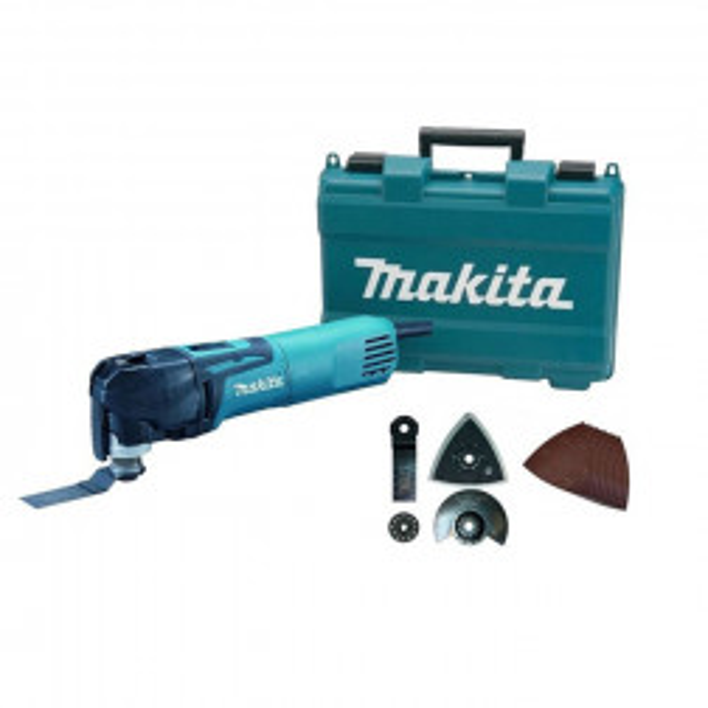 Multiherramienta Makita Tm3010cx5 320w Velocidad Variable + Accesorios.