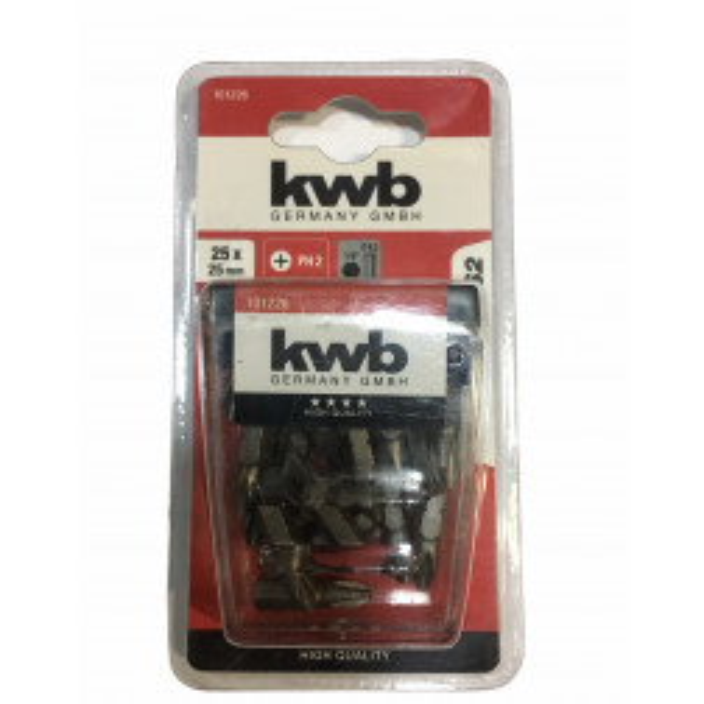 Pack Kwb 25 Puntas Phillips Ph2x25mm Ind (49101226)