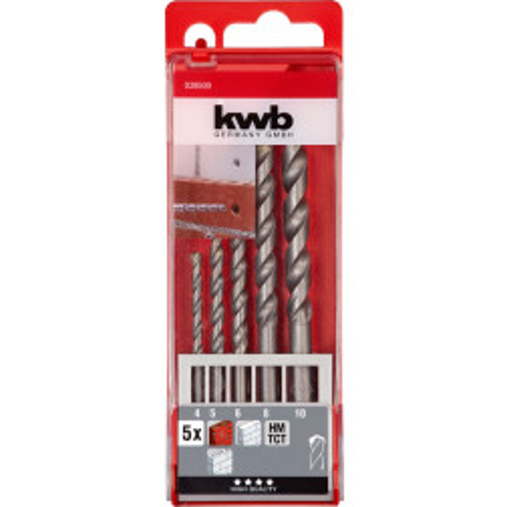 Set Broca Kwb Concreto De 456810mm (49039500)
