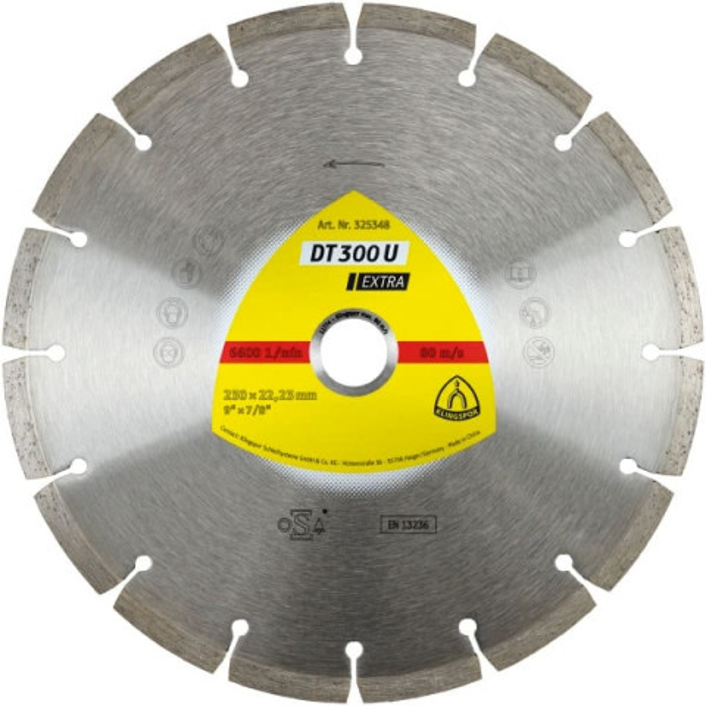 Disco Diamantado Para Concreto 4 1/2 Klingspor (325345)